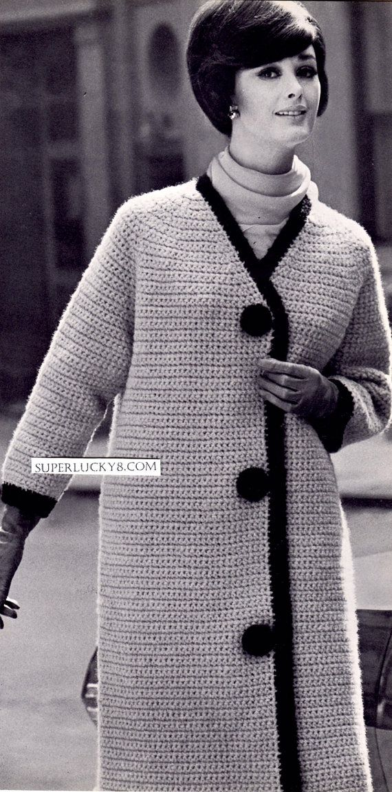 2 Vintage Coats PDF crochet patterns download di Superlucky8