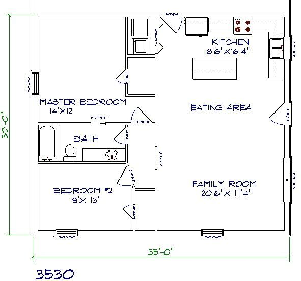 30 barndominium floor plans for different purpose house for Pool house plans with bedroom