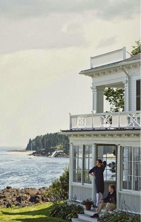 house along the Maine coast.