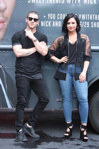 Demi Lovato and Nick Jonas' Ice Cream Party in Atlanta, GA - June 28, 2016