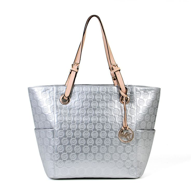 Best Michael Kors Signature Tote Silver For Lady By Www