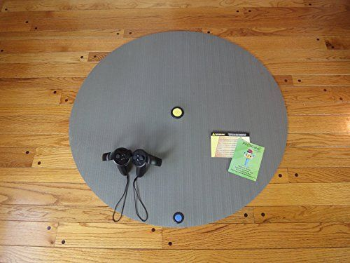 ProxiMat(tm) 36G Virtual Reality Spacial/Proximity Large 8' to 10' Room Scale Antifatigue Round ( for HTC Vive, Oculus Rift, Playstation VR PSVR, VR Drone Racing)  Works with hardwood floors, concrete, tile, commercial low profile carpet only.  Great for long standing VR drone racing sessions with commercial anti-fatigue construction.  Works great with all stand up and room scale VR games/applications - Multi-System  Ideal for use with Artistic drawing room scale software like Quill, T...