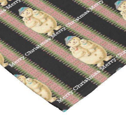 Snowman Babies Victorian Christmas  Monogram Fleece Blanket - holidays diy custom design cyo holiday family