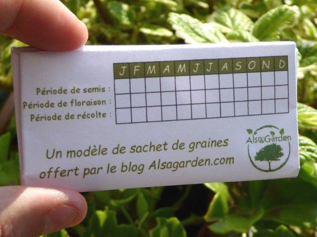 Fabriquer des sachets pour vos graines (modèle à imprimer