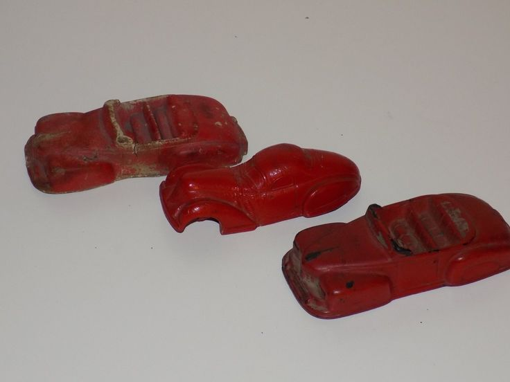 Three Vintage Cars by Arcor Toys and The Super Rubber Company