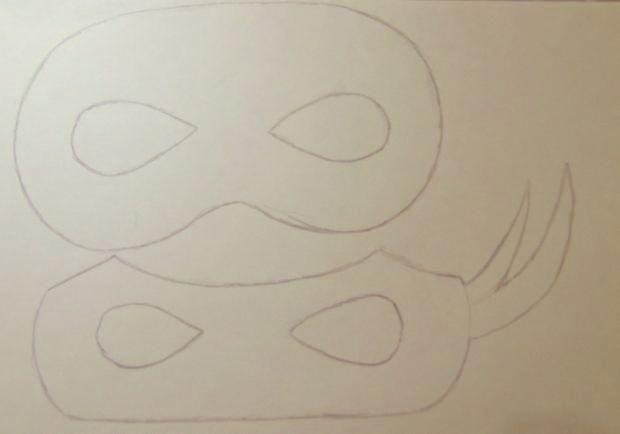 Passo a passo das máscaras Tartarugas Ninjas!! Vem aprender!! #diy #doityourself…