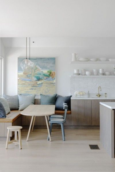 VCDesign is loving this dining nook at end of kitchen run