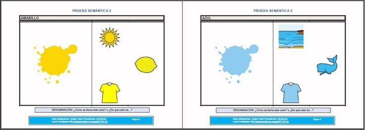 MATERIALES - PRUEBAS DE EVALUACIÓN/ENTRENAMIENTO DEL LENGUAJE ORAL - SEMÁNTICA 2: Colores. Conceptos básicos.  http://arasaac.org/materiales.php?id_material=1019