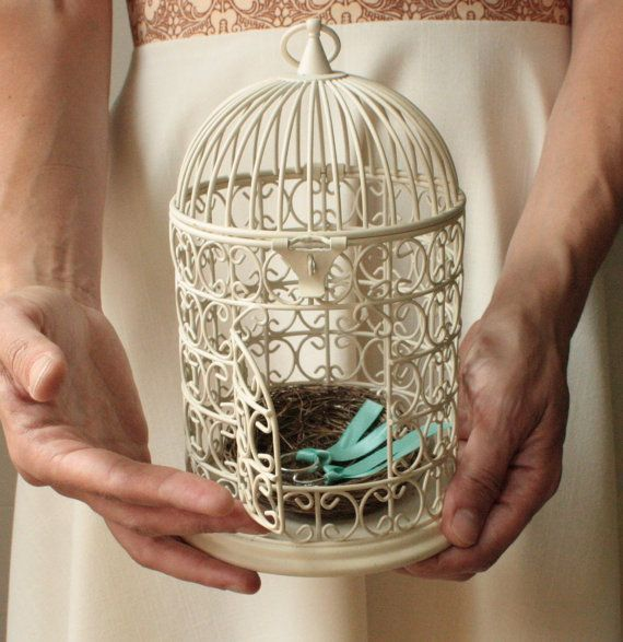 porte alliances cage à oiseaux