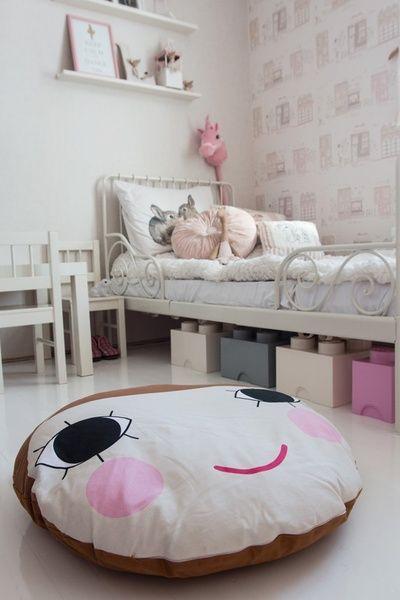 tytön huone,tytön sänky,tyttömäinen,lastenhuoneen säilytys,lastenhuoneen sänky