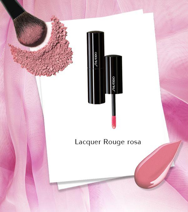Fresco, puro e innocente: il rosa di Lacquer Rouge è morbido e luminoso. Un rossetto fluido effetto smalto, per un make-up naturale ed elegante. #Shiseido #makeup www.shiseido.it