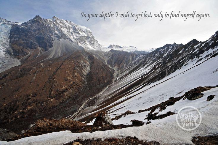 Somewhere in Kanchanjunga, Nepal. The mighty Himalayas