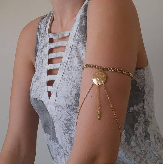 FESTIVAL gold arm band / choker necklace