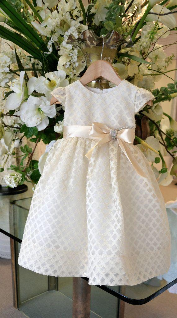 Flower Girl Dress ~ Easter Dress ~  Christening Dress ~ Baptism Dress ~ by www.CouturesbyLaura.Etsy.com ~  $199.00