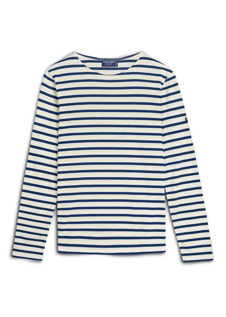 Breton Stripe Shirt - Saint James. Pair one with a pair of skinny dark washed jeans and a pair of flats for a weekend of errands or with a print skirt for a more dressed up bohemian look.