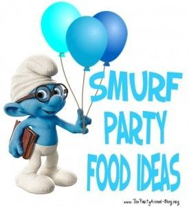Smurf Party Food Ideas.  wouldn't it be fun if all food was blue?