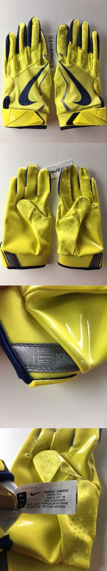 Gloves 159114: Nike Vapor Jet 4 Football Receiver Gloves Yellow Grey Gf0572 312 Men S Xl -> BUY IT NOW ONLY: $32.39 on eBay!