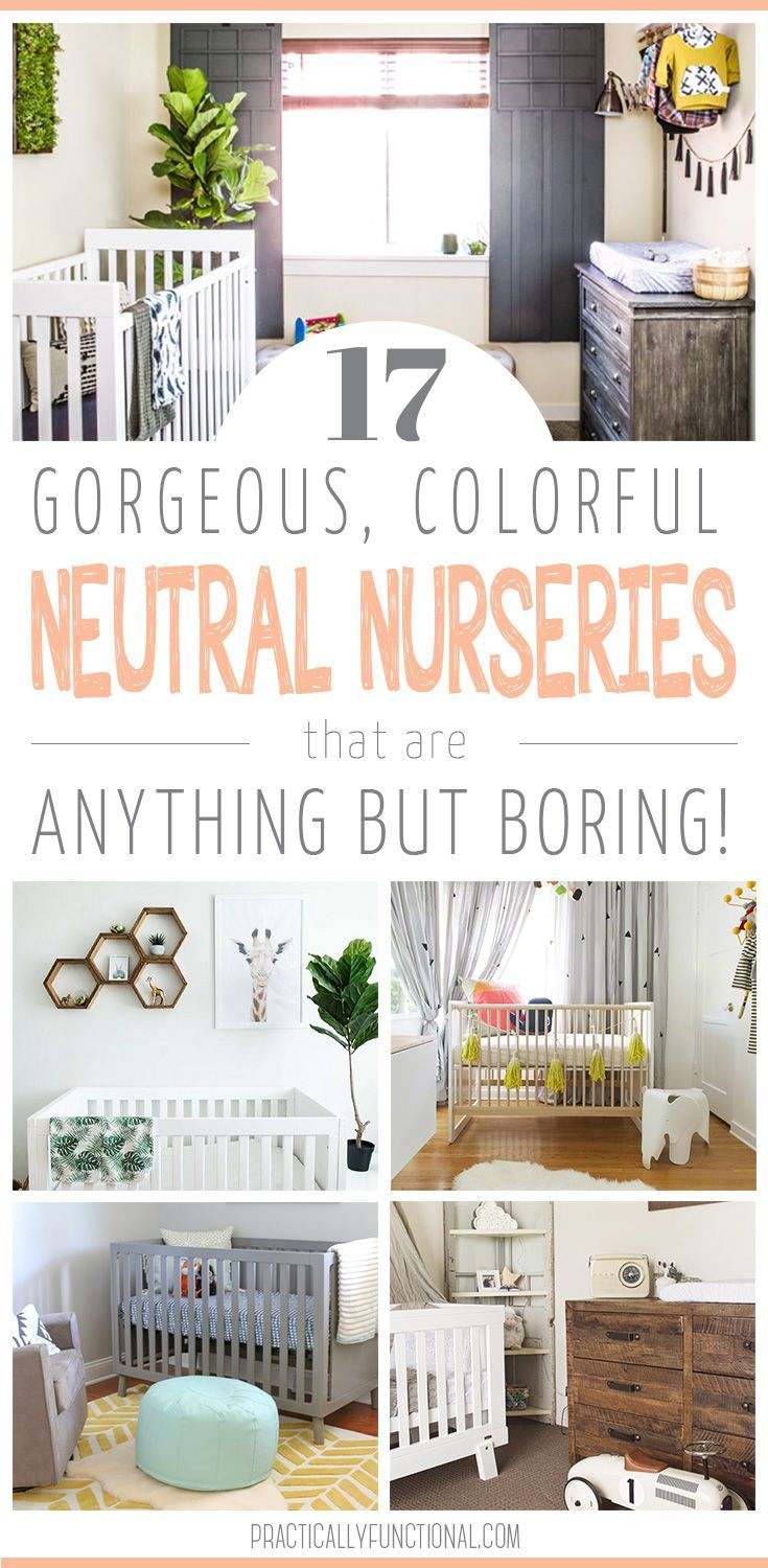 Gender neutral nurseries do not have to be colorless and lacking personality! Find inspiration for your nursery with these gorgeous gender neutral nursery ideas!