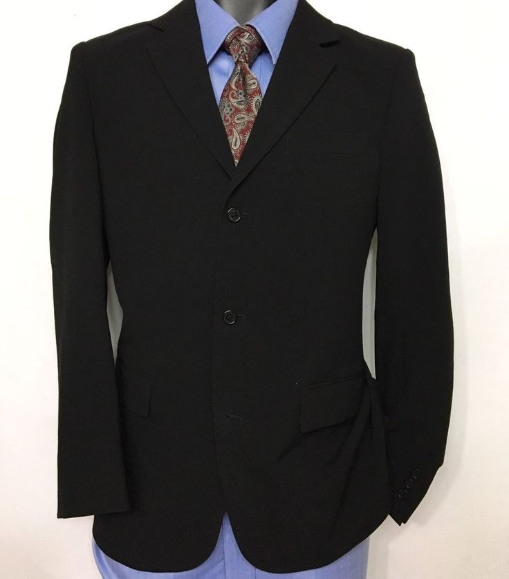 KENNETH COLE REACTION Boys Black Suit Jacket Size 18 / 3 Button Sport Coat   #KennethColeReaction #SingleBreastedSuit #Dressy