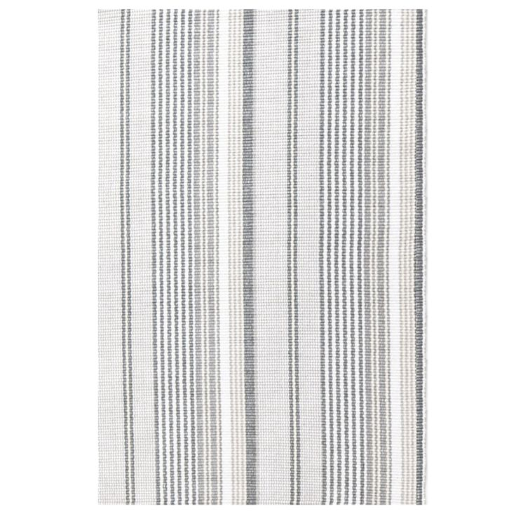Gray Ticking Cotton Woven Rug http://www.augusthaven.com/shop/2x3-gray-ticking-cotton-woven-rug/