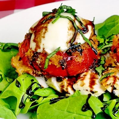 Fried Red Tomato and Grilled Chicken Salad - Rock Recipes -The Best ...
