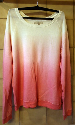 Blogger Dip-Dye Zara Sweatshirt Pullover Jumper rosa weiß, Gr.M