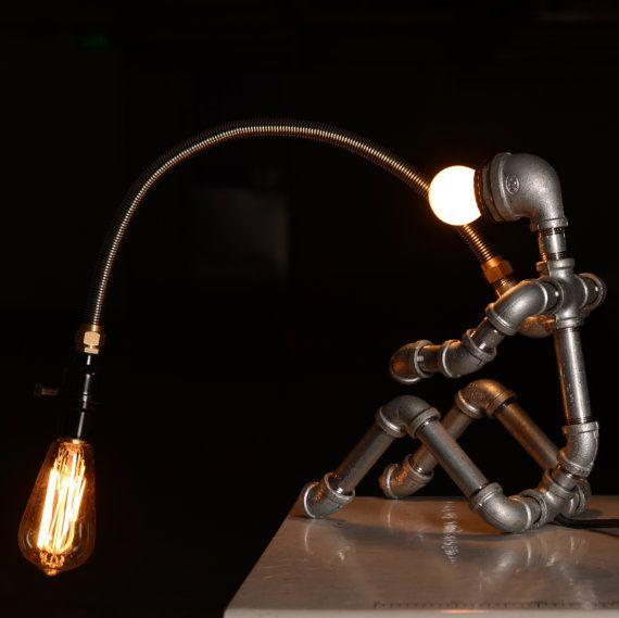 EBE Designer Industrial Lighting  Steampunk Lamp Table Lamp