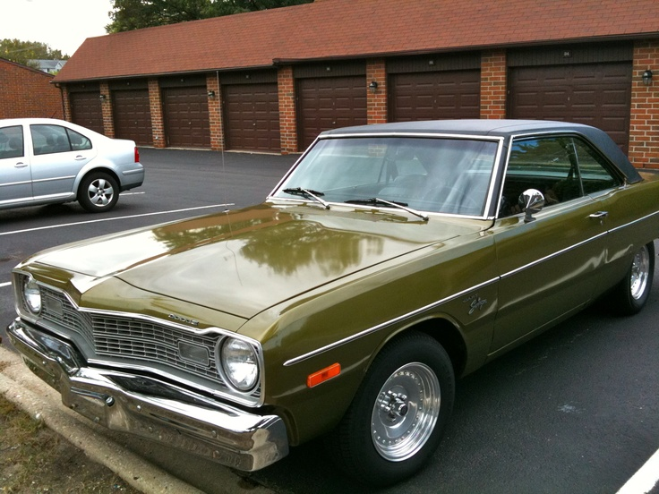 My 1974 Dodge Dart Swinger with the slant six and center line rims. I miss the ol' girl.
