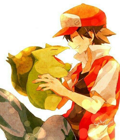 Pokemon  bulbasur red rojo