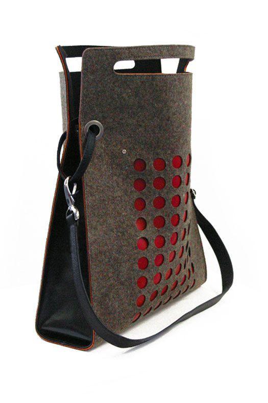 Felt purse. A bit pricey at $180