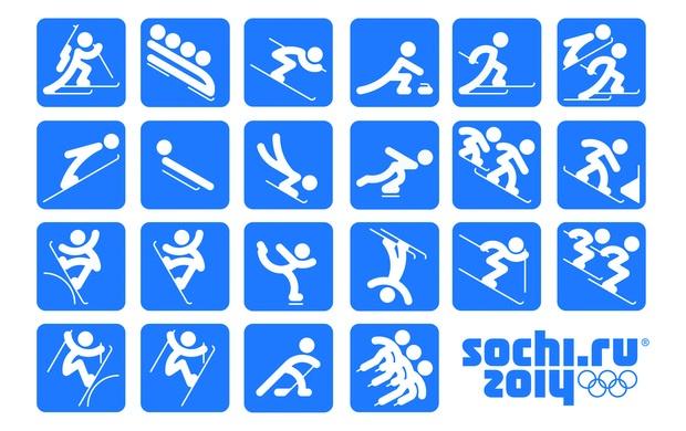 inverno pictogramas das Olimpíadas de Sochi 2014 (Foto: Sochi 2014)