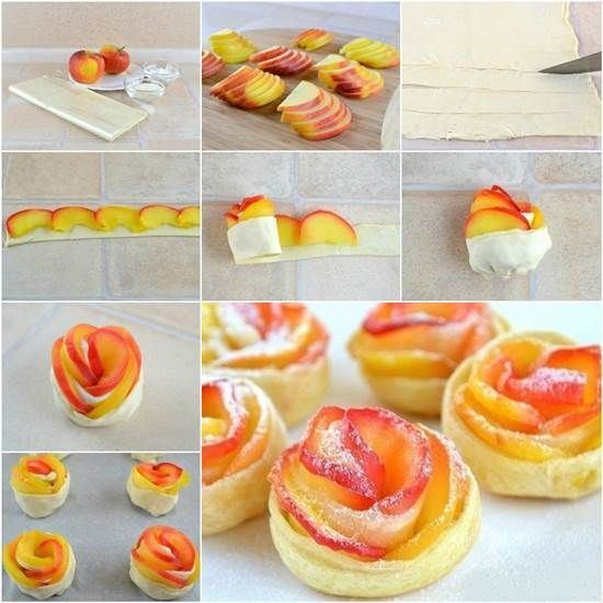 DIY Apple Rose Pastry diy apple apple rose