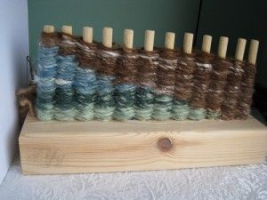 Peg Loom weaving Love these colors!