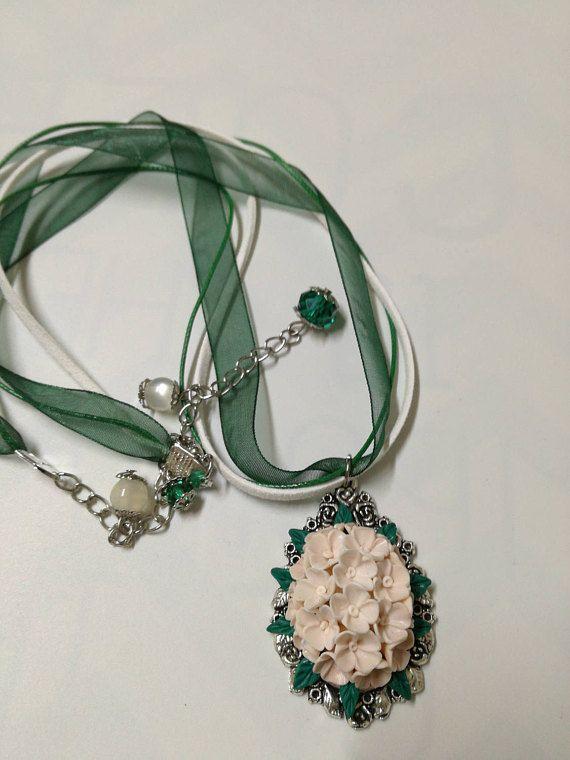 White lilac pendant