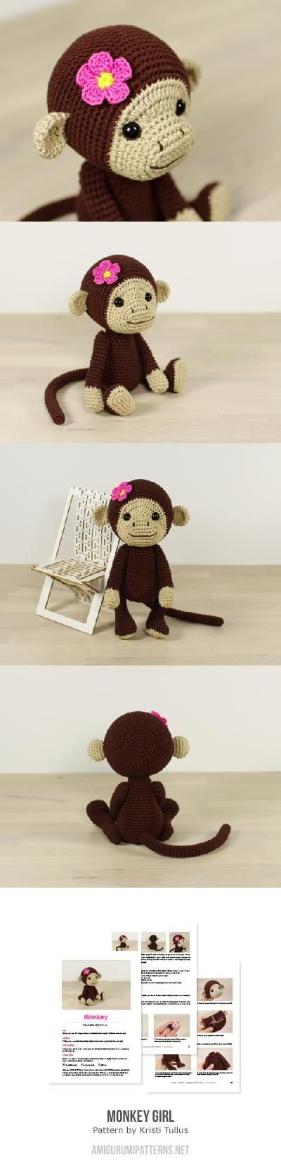 Monkey Girl Amigurumi Pattern