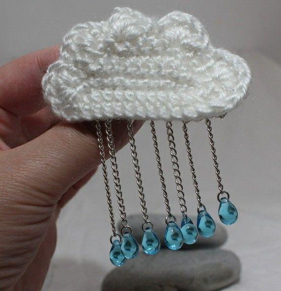rainy cloud brooch by nancy