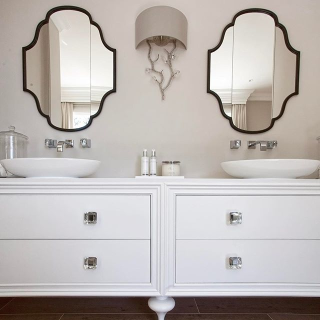 If you have the space for a double vanity unit, why share? | #bathroom #vanityunit #vanity #home #house #interior #interiordesign #architecture #bespoke #bespokefurniture #bespokejoinery #luxurykitchen #luxe #luxury #luxuryinteriors #luxurylife #details #decor #homedecor #love #beautiful #like #instadaily #instalike #hayburn #hayburnco