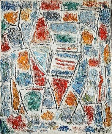 Ernest Mancoba  Composition 1951