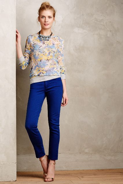 Impressionist Blooms Sweatshirt - anthropologie.com