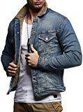 Leif Nelson LN9900 Men's Borg Lined Denim Jacket; Size US-S/EU-M, Blue
