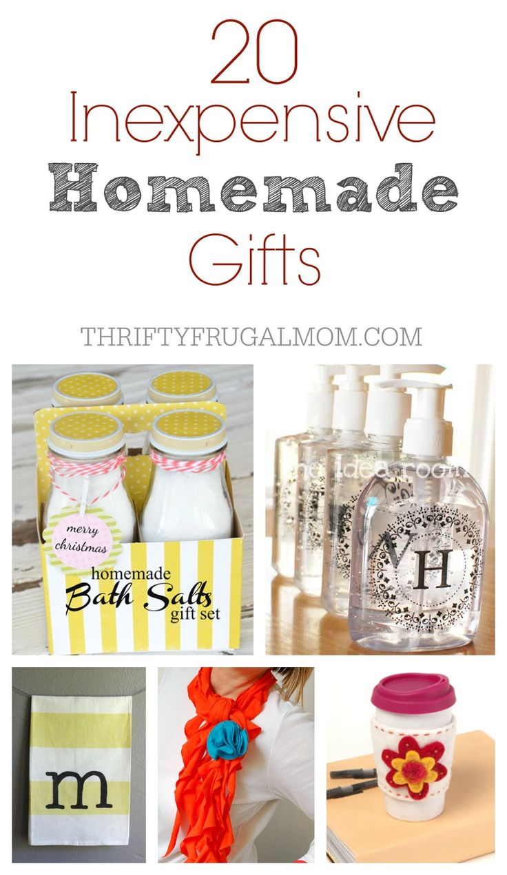 A great collection of homemade gift ideas that are not only inexpensive but also relatively simple and easy to make! Perfect for Christmas or any occasion!