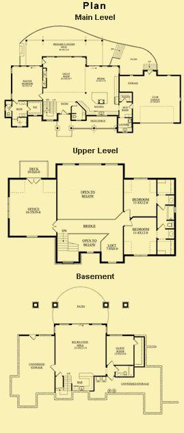Best 25 One level house  plans  ideas on Pinterest Four