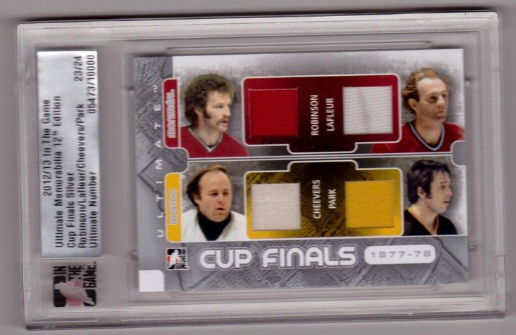 GUY LAFLEUR CHEEVERS ROBINSON PARK /13 ITG Ultimate Cup Finals 4X Jersey /24 SP | eBay