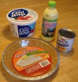 It takes just 4 ingredients to make no-bake key lime pie.