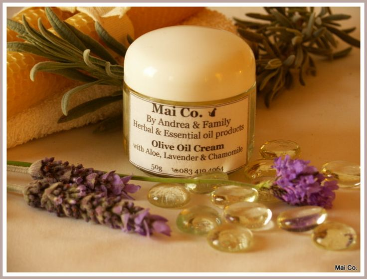 Mai Co's Olive Oil Cream for use on the face, hands and body. Made with delicate essential oils of Lavender, Chamomile & Mandarin, carefully blended with Aloe Ferox Gel. Suitable for the Normal, Combination or Sensitive skins. Absorbs easily into the skin to nourish and care for your face and hands.