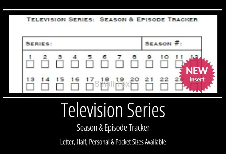 free  TV Episode & Series Tracker planner fun: All Printables