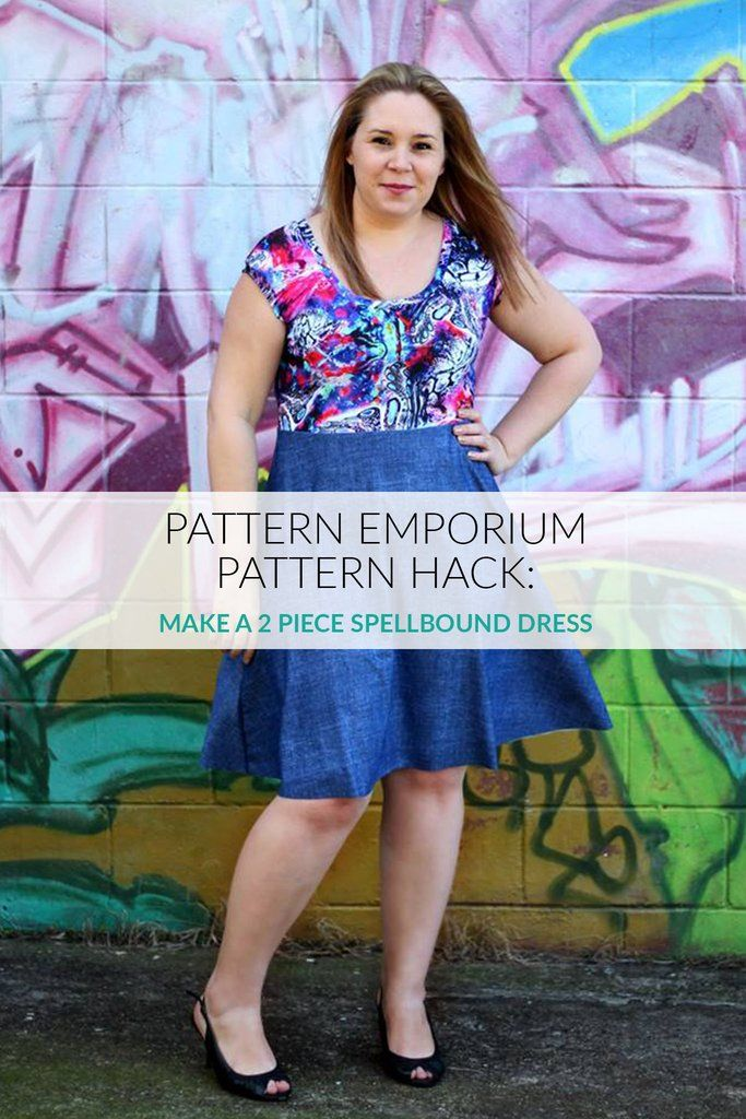 Pattern Hack - Make a stretch skater dress using the Spellbound sewing pattern. Pattern Emporium