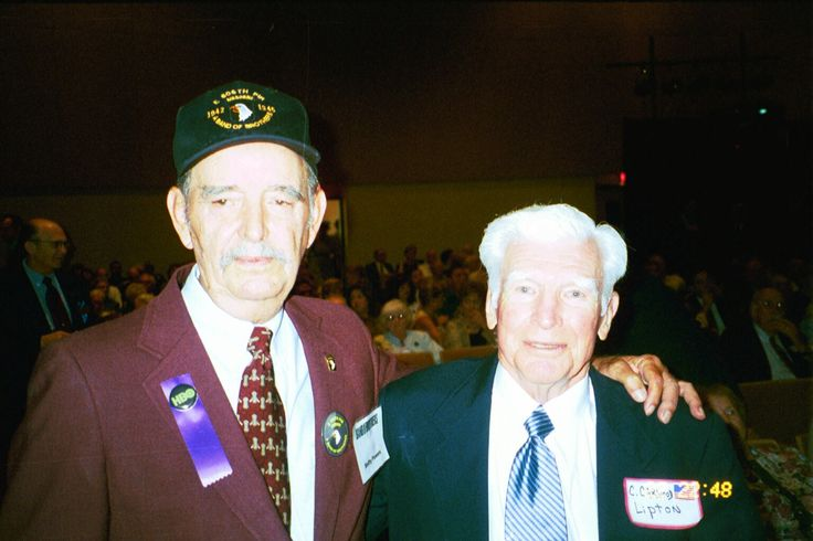 Shifty Powers & Carwood Lipton - were with Easy Company, 506th Parachute Infantry Regiment, 101st Airborne Division.