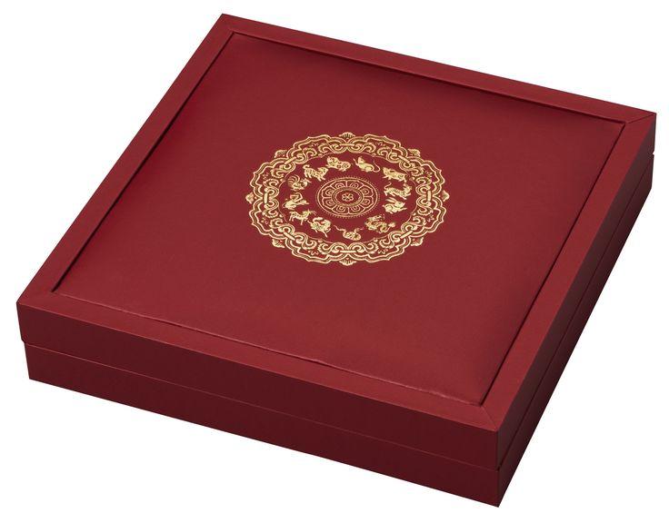 Box - Rok kohúta- Strieborná minca s nefritom