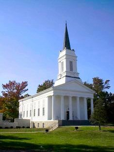 Godfrey, Illinois. This was the chapel at Monticello College when I attended college there.  When Lewis & Clark Community College acquired the campus after Monticello ceased to exit, the chapel was relocated to the west side of Route 67 from the east side.